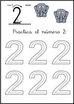 lectoescritura de numeros el 2 ficha 2 Math For Kids, Crafts For Kids, Numbers Preschool, Finger Plays, Step Kids, Numeracy, Algebra, Pre School, Math Activities