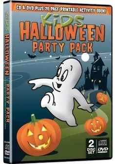 DVD, CD, Activity Book - Kids Halloween Cartoon Party Pack 2 Disc Set