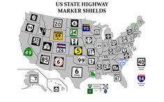 Highway shields