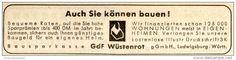 Original-Werbung/ Anzeige 1957 - GDF WÜSTENROT - ca. 100 x 25 mm