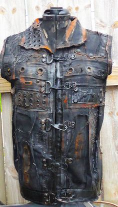 Post Apocalyptic Punk Goth Cyber Diesel Steampunk Vest Jacket Any Size | eBay