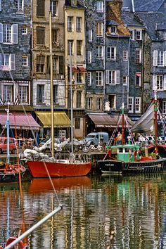 Honfleur Harbor, Normandie, France-Beautiful town with wonderful fresh seafood. Places Around The World, The Places Youll Go, Great Places, Places To See, Places To Travel, Beautiful Places, Around The Worlds, Omaha Beach, Belle France