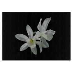 White Narcissus Cutting Board