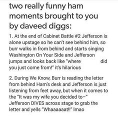 I'm glad because this is pretty much how I've always imagined these two moments. Daveed Diggs and Hamilton Hamilton Broadway, Hamilton Musical, Alexander Hamilton, Fandoms, Nos4a2, Daveed Diggs, Hamilton Lin Manuel Miranda, Hamilton Fanart, What Is Your Name