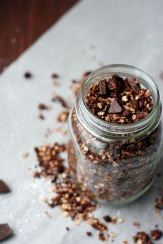 Chocolate Granola with Coconut Flakes - kochkarussell.com