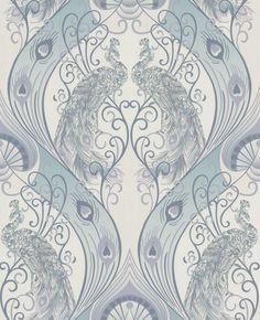 Buy your Graham & Brown Blue Pendleton Wallpaper online now at House of Fraser. Grey Damask Wallpaper, Peacock Wallpaper, Hallway Wallpaper, Green Wallpaper, Home Wallpaper, Wallpaper Roll, Pattern Wallpaper, Vinyl Wallpaper, Ideas