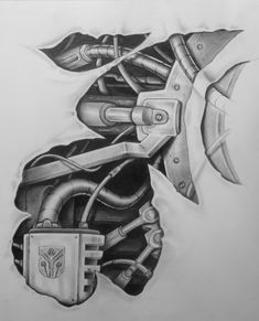 mech tattoo design pt.2 by karlinoboy on DeviantArt