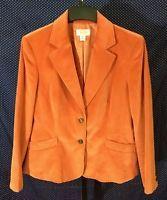Talbots Petites Women's Size 16 Orange Blazer Jacket Lined Career Work Casual