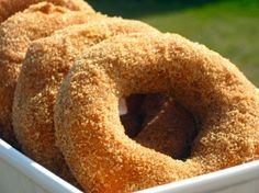 I have made this recipe a couple of times. It's really good. I like making them into little donut holes instead of traditional ring donuts. They are super yummy either way though!