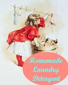 Homemade Liquid Laundry Detergent – Mrs Happy Homemaker