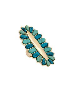 Spotted this nOir 18K Plated Turquoise Ring on Rue La La. Shop (quickly!).