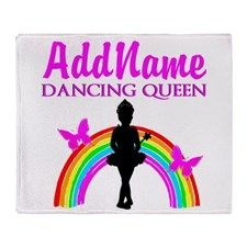 DANCING QUEEN Throw Blanket Beautiful Dancer & Ballerina fleece blankets.  http://www.cafepress.com/sportsstar/10423569 #Dancer #Dancergifts #Ballet #Ballerina  #Personalizeddancer #Ballerinablanket