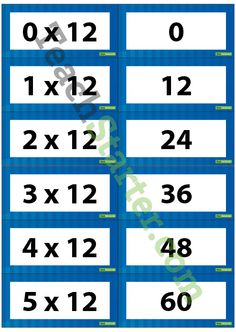 Multiplication Flash Cards - 12 Times Table | Teach Starter - Teaching Resources