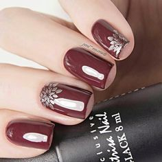 Would you like to make the unique manicure to feel yourself as a queen of the ball? Use cherry red ...