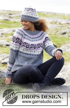 Telemark / DROPS - Free knitting patterns by DROPS Design Knitted sweater with round yoke and multicolored Norwegian pattern, knitted from top to bottom. Sizes S - XXXL. Knitting Machine Patterns, Knit Patterns, Drops Design, Fair Isle Knitting, Free Knitting, Knitting Designs, Knitting Projects, Fair Isle Pattern, Knitting For Beginners