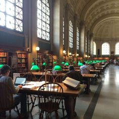162 Of The Most Majestic Libraries In The World Public Library Design, Library Cafe, College Library, Boston Public Library, College Life, Public Libraries, School Motivation, Study Motivation, College Aesthetic