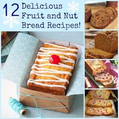 Today is National Date Nut Bread Day! In honor of this delicious sounding day, I have found you 12 delicious fruit and nut bread recipes and even some great fruit cake facts that I bet you didn& Raw Food Recipes, Sweet Recipes, Dessert Recipes, Desserts, Yummy Recipes, Nut Bread Recipe, Bread Recipes, Delicious Fruit, Yummy Food