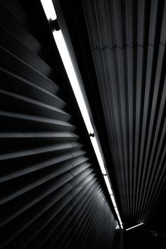 Staircase of Iidabashi station, Tokyo, Japan