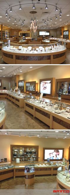 Earth Treasures Fine Jewelers. Manufacture & Design of Store Fixtures by Artco Group. #retaildesign #retaildisplay #Jewelers #FineJewelry