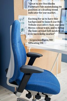 Quote from the MD of Scandinavian Business Seating.