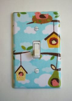 Tree Branches & Bird Houses Single Toggle by PopGoesTheColor, $8.00