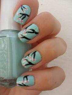 Cherry Blossom nails, beautiful!