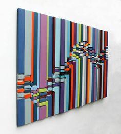 Large Wall Art Wood Wall Art 'Fragment Break'