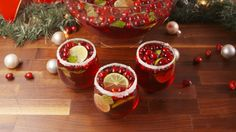 You'll be hearing jingle bells in no time. JINGLE JUICE Cran-Apple Juice Prosecco Red Moscato Vodka Fresh Cranberries - 1 bag (freeze first) Lime slices, fresh Mint Leaves Rub rim w/ lime, dip in surgar Christmas Cocktails, Holiday Cocktails, Holiday Parties, Xmas Party, Easter Cocktails, Party Time, Christmas Treats, Holiday Treats, Holiday Recipes