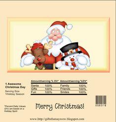 candy bar wrapper-- http://giftsthatsaywow.blogspot.com/2013/11/santa-reindeer-snowman-christmas-candy.html