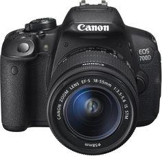 Canon EOS 700D SLR-Digitalkamera (18 Megapixel, 7,6 cm (3 Zoll) Touchscreen, Full HD, Live-View) Kit inkl. uscharme Aufnahmen voller Details mit 18 Megapixeln für hochauflösende Drucke oder Ausschnittvergrößerungen ohne Qualitätsverlust, 7,7 cm dreh- und schwenkbarer Clear View LCD II Touchscreen, Intelligente Automatik mit automatischer Motiverkennung für hochwertige Aufnahmen, ganz einfach und schnell.  Zum Produkt: Bitte das Bild anklicken, pleace click the picture!