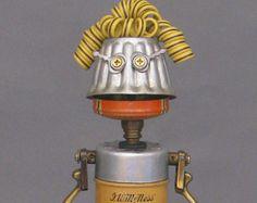 Assemblage Metal Art Robot Sculpture  Bart by CastOfCharacters23