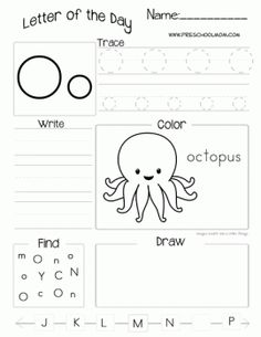 Letter O Worksheets For Kindergarten Preschool Letters, Letter Activities, Preschool Printables, Learning Letters, Preschool Lessons, Preschool Kindergarten, Preschool Worksheets, Preschool Learning, Preschool Activities