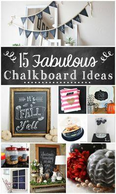 15 Fabulous Chalkboard Ideas | TheTurquoiseHome.com
