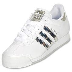 adidas Samoa Women's Casual Shoe    White/Metallic Silver