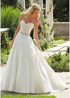Robe de mariée moderne col en cœur bustier taffetas magnifique [#ROBE208570] - robedumariage.com