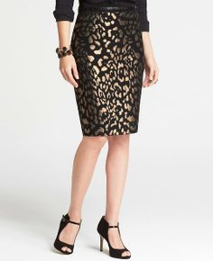 Animal Print: Enjoy 40% off everything for Trends with Benefits (use code TRENDS40) - Bronze Animal Jacquard Skirt