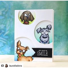 #Repost @laurafadora with @repostapp ・・・ Love these expressions!!! Crazy Dogs set by @tim_holtz This set is included in the #masterpiecebox by @simonsaysstamp #simonsaysstamp #timholtz