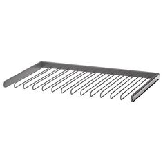 IKEA KOMPLEMENT Pull-out trouser hanger Dark grey 100 x 58 cm 10 year guarantee. Read about the terms in the guarantee brochure. Pax System, Closet System, At Home Furniture Store, Modern Home Furniture, Shoe Shelves, Glass Shelves, Clothing Storage, Shoe Storage, Interior Ikea