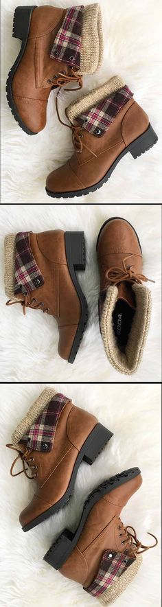 Cupshe Good To Go Wild Knitting Ankle Boots
