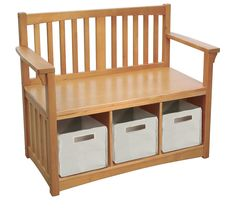 Guidecraft New Mission Wood Storage Bench & Reviews | Wayfair