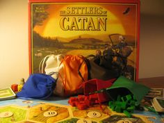 Settlers of Catan - SIX Fabric Cloth Bags for Player Pieces. Settlers Of Catan, Cloth Bags, Board Games, My Love, Trending Outfits, Fabric, Crafts, Tabletop, Clothes