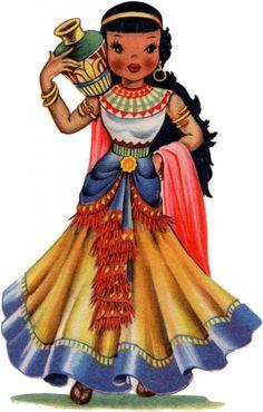 Retro Egypt Doll Image! - The Graphics Fairy
