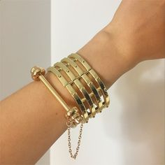 Bracelet stacking is so chic