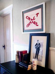 I like the framed art. Subtle reminder of sweet home Alabama!