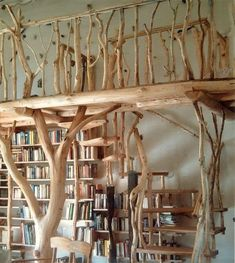 beautiful loft bed wild wood www. More- wunderschön Hochbett Wildholz www.holzatelier-k… Mehr beautiful loft bed wild wood www. Interior Design Your Home, Tree Interior, Tree Bed, My Dream Home, Future House, Diy Home Decor, Sweet Home, New Homes, House Design
