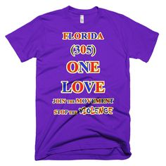 1151-T ... FLORIDA ... Area Code 305 ... ONE LOVE ... T-SHIRT