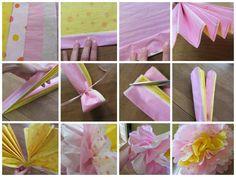 Como hacer flores gigantes de papel china
