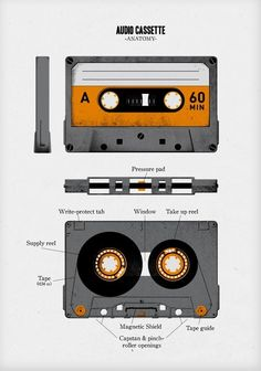 Awesome... retro-technical. || Audiology, Audio cassette anatomy
