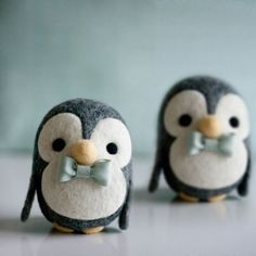 Make these adorable needle felted penguins