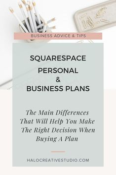 Let's go over the 4 main differences between the Squarespace personal and business plans. Make sure to get the plan that's right for you and your business